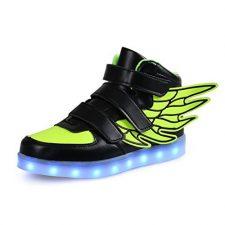 SGoodshoes LED Zapatos niños Niños Niñas atlético zapatos para correr enciende para arriba la zapatilla deporte Alas Formadores USB carga
