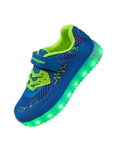 Shinmax Primavera-Verano-Otoño Transpirable Zapatillas LED Nueva Led Zapatos de Deporte de Zapatillas LED Niños de 7 Colores LED con CE Certificado 00123