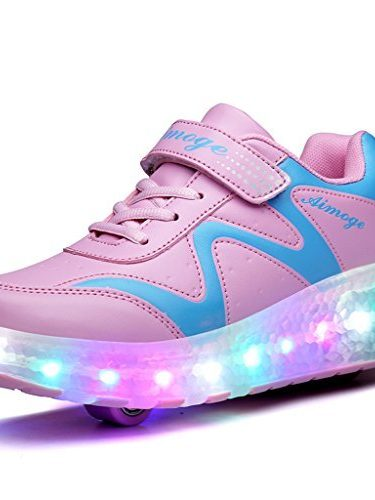 BELECOO Zapatos rueda de las zapatillas de deporte de luz LED Rodillo manera de los niños del patín zapatillas de deporte Niña & Chico luminosos zapatos