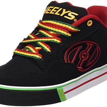 Heelys Motion Plus (770533) – Zapatillas para niños, color Red/Black/Grey/Skulls, talla 31