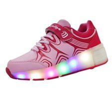 KIPTOP®-Zapatillas con ruedas led 5 colores deportivas para niños niñas