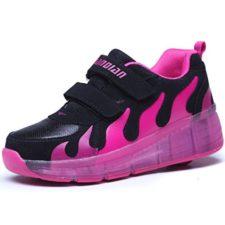 KISCHERS Luces Led zapatos de Skate Sola Ronda para Niñas Niño