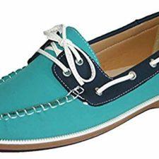 Mujer Coolers Nobuk Falso Mocasines Piel Con Cordones Zapatos Náuticos Tallas 4 – 8