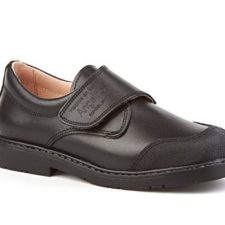 Zapatos Colegiales con Puntera Reforzada Todo Piel, mod.452. Calzado infantil Made in Spain, Garantia de calidad.