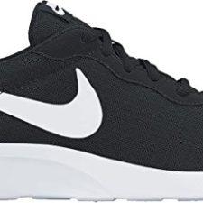 Nike Tanjun – Zapatillas unisex, color negro / blanco, talla 40.5